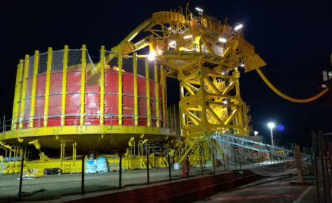 Vertical Lay System for Umbilicals – Normand Cutter Vessel