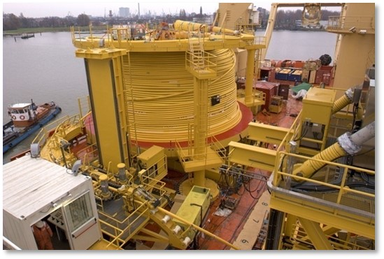 Vertical Lay System for Umbilicals - Normand Cutter Vessel